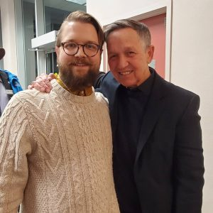 Jonny Meade with Dennis Kucinich